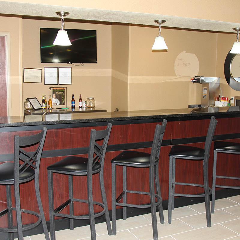 Full service cash bar at Castle Rock Inn and Suites