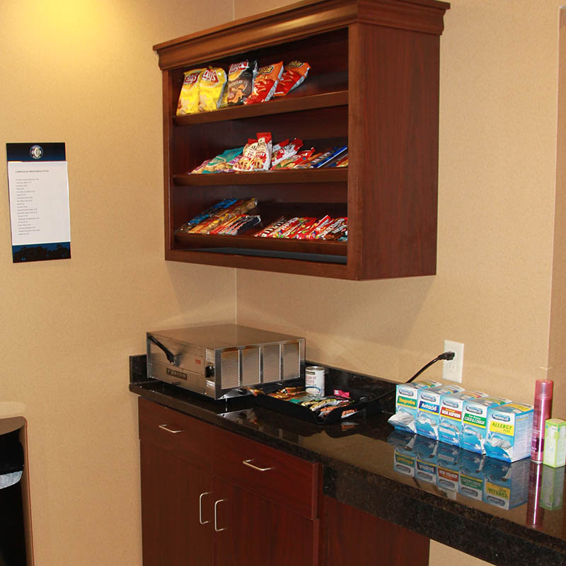 Snack counter at Castle Rock Inn and Suites